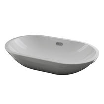 Built-in washbasin / oval / ceramic / contemporary