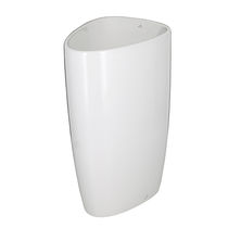 Free-standing washbasin / ceramic / contemporary / commercial