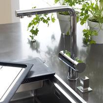 Chromed metal mixer tap / kitchen / 1-hole / swivel spout