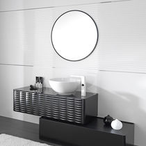 Contemporary bathroom cabinet / MDF / with drawer / wall-mounted