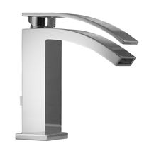 Washbasin mixer tap / countertop / chrome-plated brass / bathroom