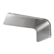 Wall-mounted shower head / rectangular / rain