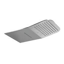 Wall-mounted shower head / rectangular / waterfall / rain