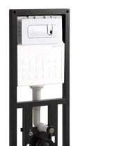 Wall-mounted toilet installation unit / with toilet tank