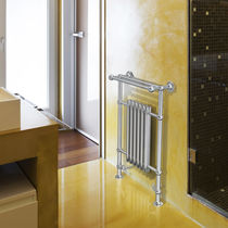 Hot water towel radiator / steel / traditional / bathroom