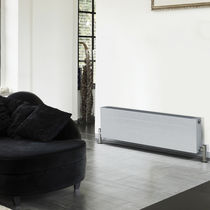 Hot water convector / low-temperature / steel / contemporary