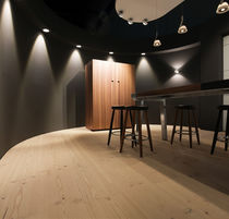 Engineered wood flooring / glued / floating / Douglas fir