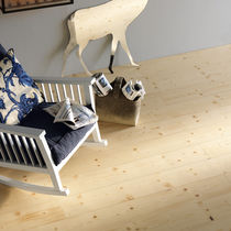 Engineered wood flooring / glued / floating / spruce