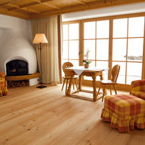 Engineered wood flooring / glued / floating / larch
