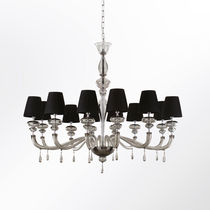 Contemporary chandelier / blown glass / Murano glass / textile