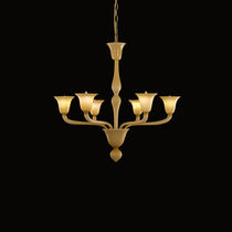 Traditional chandelier / blown glass / Murano glass / LED