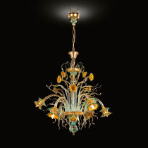 New Baroque design chandelier / blown glass / Murano glass / LED