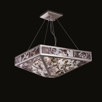 Pendant lamp / contemporary / Murano glass / metal
