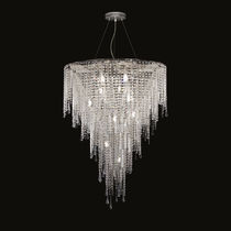 Pendant lamp / contemporary / crystal / Murano glass