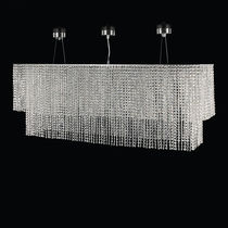Contemporary chandelier / crystal / LED / handmade