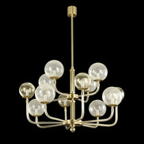 Contemporary chandelier / blown glass / Murano glass / LED