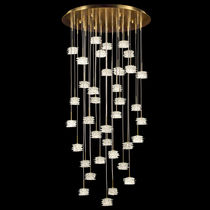Pendant lamp / contemporary / metal / glass
