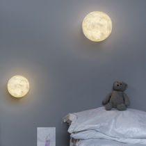 Contemporary wall light / in Nebulite® / LED / round