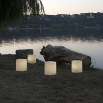 Floor lamp / contemporary / Laprene® / in Nebulite®