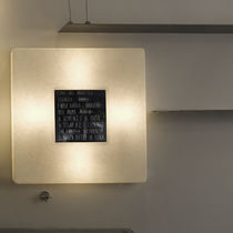 Contemporary wall light / in Nebulite® / LED / square
