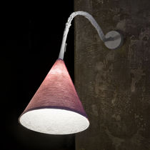 Contemporary wall light / wool / steel / nylon