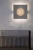 Contemporary wall light / steel / in Nebulite® / halogen