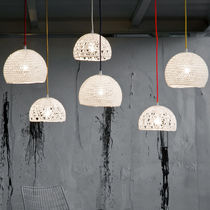 Pendant lamp / contemporary / fabric / resin