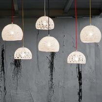 Pendant lamp / contemporary / fabric / resin