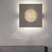 Contemporary wall light / steel / in Nebulite® / halogen