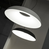 Pendant lamp / contemporary / aluminum / methacrylate