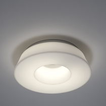 Original design ceiling light / round / polyethylene / fluorescent