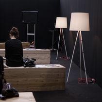 Floor-standing lamp / original design / aluminum / tripod