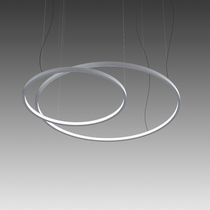 Hanging light fixture / LED / round / aluminum