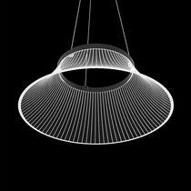 Pendant lamp / original design / methacrylate / painted aluminum
