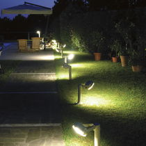 Garden bollard light / contemporary / steel / LED