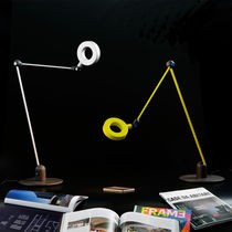Table lamp / original design / metal / swing-arm