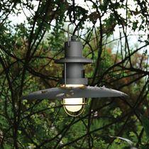 Pendant lamp / industrial style / glass / garden