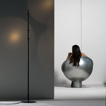 Floor-standing lamp / original design / aluminum