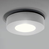 Original design ceiling light / round / aluminum / LED