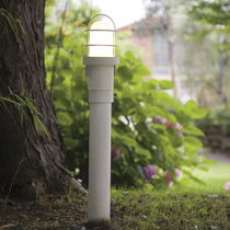 Garden bollard light / traditional / steel / LED