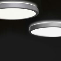 Contemporary ceiling light / round / aluminum / fluorescent
