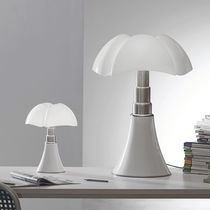 Table lamp / original design / stainless steel / methacrylate