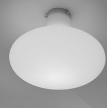 Contemporary ceiling light / round / polyethylene / fluorescent