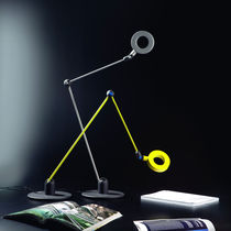 Table lamp / original design / metal / swing-arm