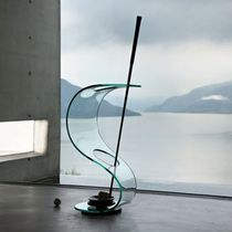 Glass umbrella stand / metal