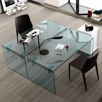 Glass desk / contemporary