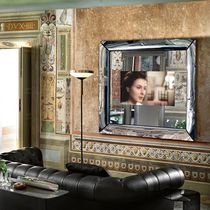 Wall-mounted mirror / TV / living room / contemporary