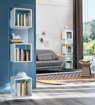 Contemporary shelf / glass / living room