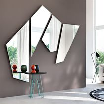Wall-mounted mirror / contemporary / living room