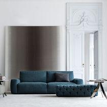 Contemporary sofa / fabric / 2-seater / blue